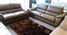 Amalfi 3 seater and 2 seater Oregon brown £2699 (SUPERSTORE) - Click for more details
