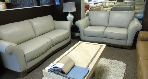 Florence 3 seater and 2 seater stone £1999 (SUPERSTORE)