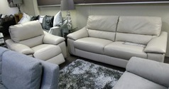 Provence 3 seater and electric recliner chair stone £999 (SUPERSTORE) - Click for more details