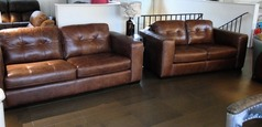 Faro 3 seater and 2 seater vintage tan £1699 (SUPERSTORE) - Click for more details