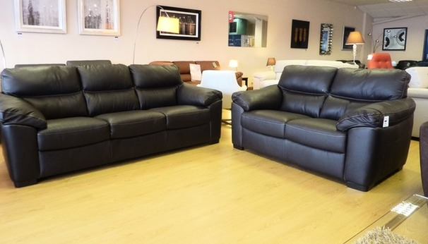 Pescaro 3 seater and 2 seater brown £1499 (SUPERSTORE)