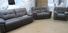 Modena electric recliner 3 seater, 2 seater and 1 chair grey (SUPERSTORE) - Click for more details