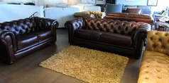 Chesterfield 3 seater and 2 seater vintage brown  £1999 (SUPERSTORE) - Click for more details
