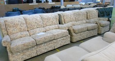 G PLAN 3 seater, 2 seater and 1 chair FABRIC - Click for more details