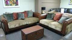 Salisbury 3 seater and 2 seater  tan £1999 (SUPERSTORE) - Click for more details
