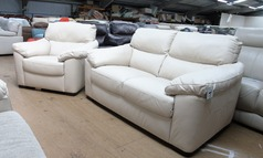 Pescaro 2 seater and 1 chair cream £899 (SUPERSTORE) - Click for more details
