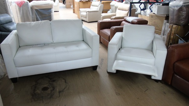 Tivoli 2 seater  and recliner chair Winter white £798 (SUPERSTORE)