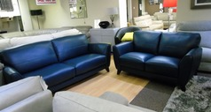 Cordoba 3 seater and 2 seater deep blue £1299 (NEWPORT) - Click for more details