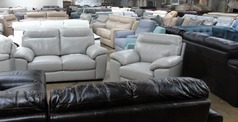 Trento  2 seater and 1 chair grey £999 (SUPERSTORE) - Click for more details