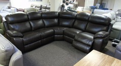 Barcelona electric recliner corner suite brown leather £2199 (SUPERSTORE) - Click for more details