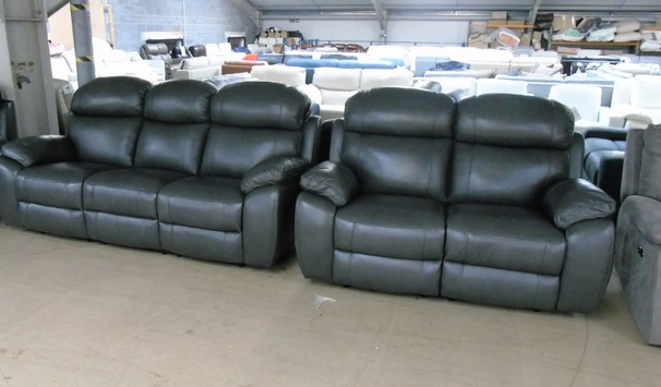 Barecelona electric recliner 3 seater and 2 seater anthracite grey £2299 (SUPERSTORE)
