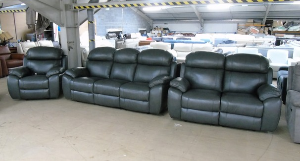 Barcelona electric recliner 3 seater, 2 seater and chair anthracite £2999 (SUPERSTORE)