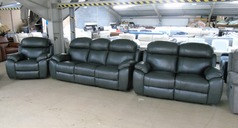 Barcelona electric recliner 3 seater, 2 seater and chair anthracite £2999 (SWANSEA SUPERSTORE) - Click for more details
