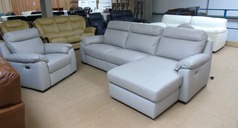 Latina double electric recliner chaise sofa  and electric recliner chair £1999 (SUPERSTORE) - Click for more details