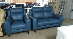 Newbury 2 seater and 1 chair blue £1199 (SUPERSTORE) - Click for more details