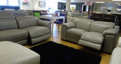 LIMOGE double electric recliner 3 seater and 2 seater grey £3999 (SWANSEA SUPERSTORE) - Click for more details