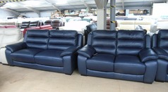 Charlotte 3 seater and 2 seater navy blue £1899 (SUPERSTORE) - Click for more details