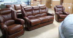 Gemma 3 seater and 2 chairs antique brown £1799 (SUPERSTORE) - Click for more details
