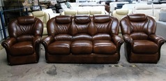 Garda 3 seater and 2 chairs antique brown £1499 (SUPERSTORE) - Click for more details