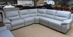 Marino double electric corner in grey hide £2499 (SWANSEA SUPERSTORE) - Click for more details