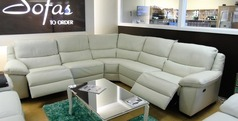 Marino double electric recliner in ivory hide £2499 (SUPERSTORE) - Click for more details