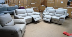 Marino 3 seater, 2 seater and chair  stone hide £3098 (SWANSEA SUPERSTORE) - Click for more details