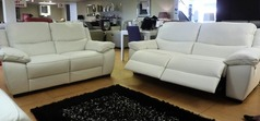Marino 3 seater and 2 seater white £2399 (SWANSEA SUPERSTORE) - Click for more details