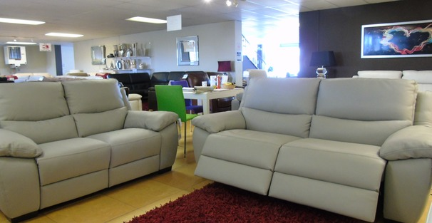 Marino electric recliner 3 seater and 2 seater grey £2399 (SWANSEA SUPERSTORE)