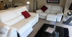 Marino electric recliner 3 seater and 2 seater white £2399 (CARDIFF) - Click for more details