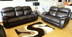 Barcelona electric recliner 3 seater and 2 seater brown leather £2299 (SUPERSTORE) - Click for more details