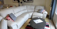 Marino 4 seater  electric recliner corner suite stone grey £2149 (SWANSEA) - Click for more details