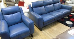 Newbury 3 seater and electric recliner chair blue £1799 (SWANSEA) - Click for more details