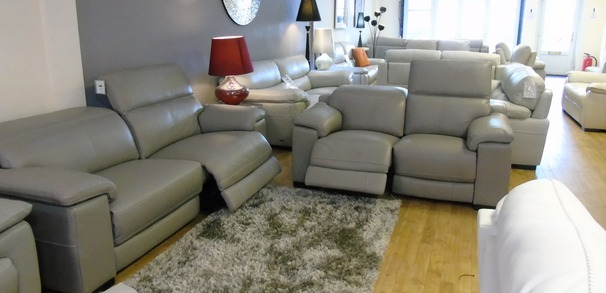 Limoge electric recliner 3 seater and 2 seater grey £3999 (SWANSEA)