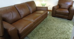 Porto 3 seater and 1 chair tan £1299 (SWANSEA) - Click for more details