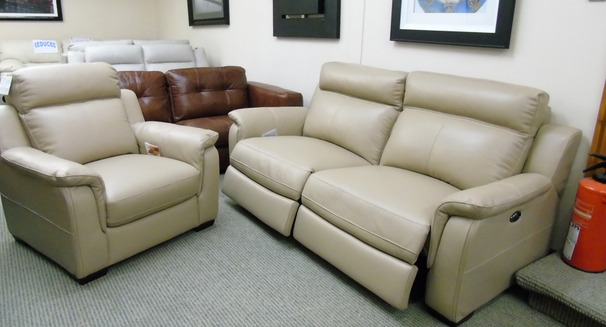 Cotswold 3 electric recliner  seater and 1  chair in beige £1749 (SWANSEA)