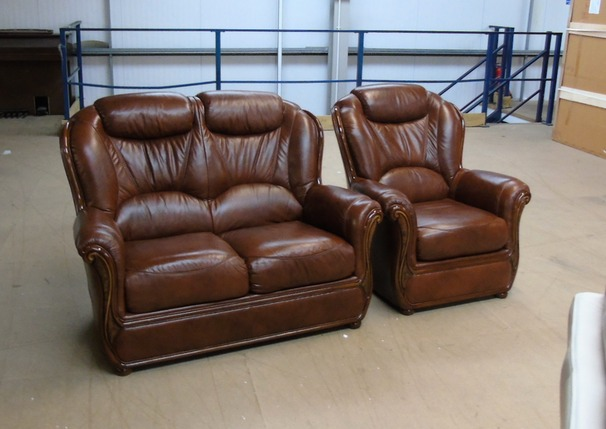 Gradi 2 seater and 1 chair antique brown £999 (SUPERSTORE)