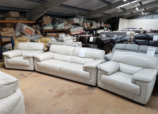 Rosa 3 seater and 2 chairs stone hide £799 (SUPERSTORE)