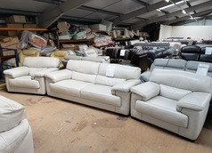 Rosa 3 seater and 2 chairs stone hide £799 (SUPERSTORE) - Click for more details
