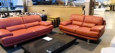 Fraisse 3 seater and 2 seater red £799 (SUPERSTORE) - Click for more details