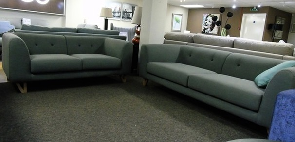 Peroda 956 3 seater and 2 seater £799 grey fabric (SUPERSTORE)
