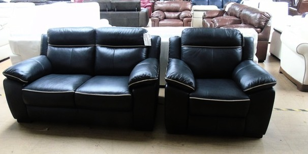 Nimes 2 seater and electric recliner chair navy £899 (SUPERSTORE)