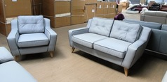 Peroda 2 seater and 1 chair grey £499 (SUPERSTORE) - Click for more details