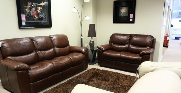 Lille 3 seater and 2 seater chestnut brown £1899 (SUPERSTORE)
