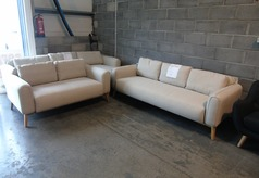 Malmo 3 seater and 2 seater beige £599 (SUPERSTORE) - Click for more details