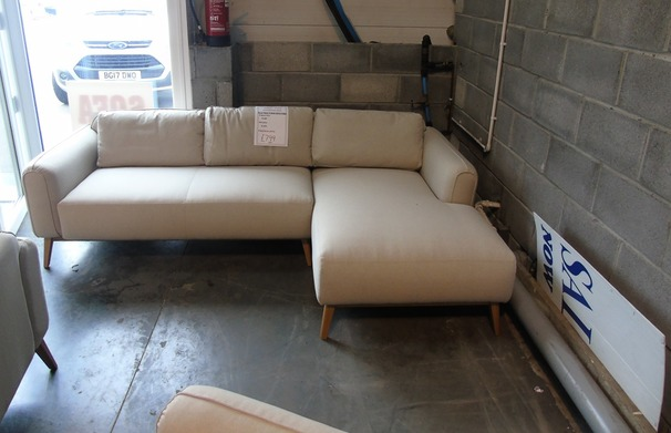 Malmo chaise sofa beige £799 (SUPERSTORE)