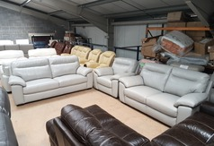 Trento 3 seater, 2 seater and chair grey £1799 (SUPERSTORE) - Click for more details