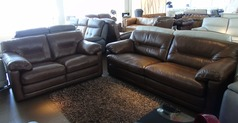 FRESNO 3 seater and 2 seater rust hide £1999 (CARDIFF SUPERSTORE) - Click for more details