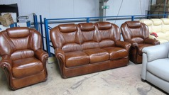 Garda 3 seater and 2 chairs antique brown £1499 ( CARDIFF SUPERSTORE) - Click for more details