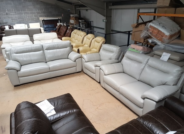 Trento 3 seater, 2 seater and chair grey £1799 (CARDIFF SUPERSTORE)