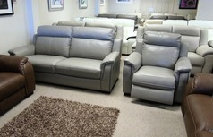 Cotswold 3 seater and 1 electric recliner chair taupe grey £1999 (CARDIFF SUPERSTORE) - Click for more details